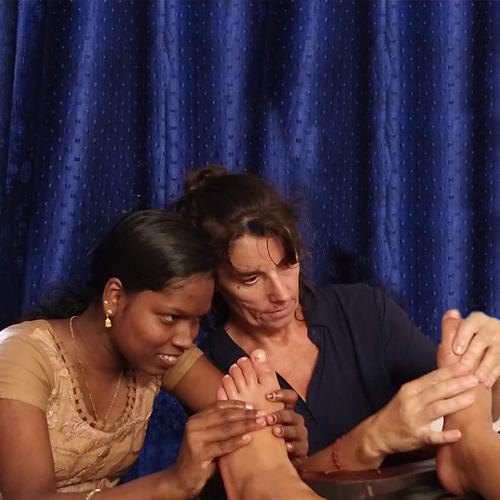 massage pieds réflexologie à samoëns