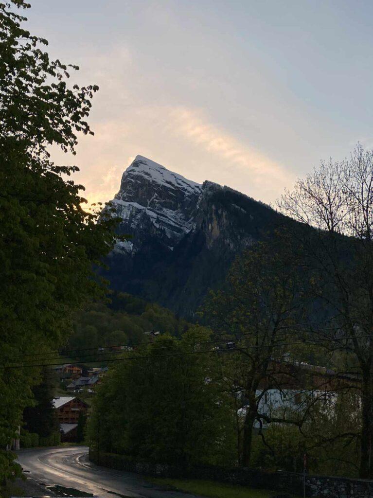 vue sur la montagne de Criou