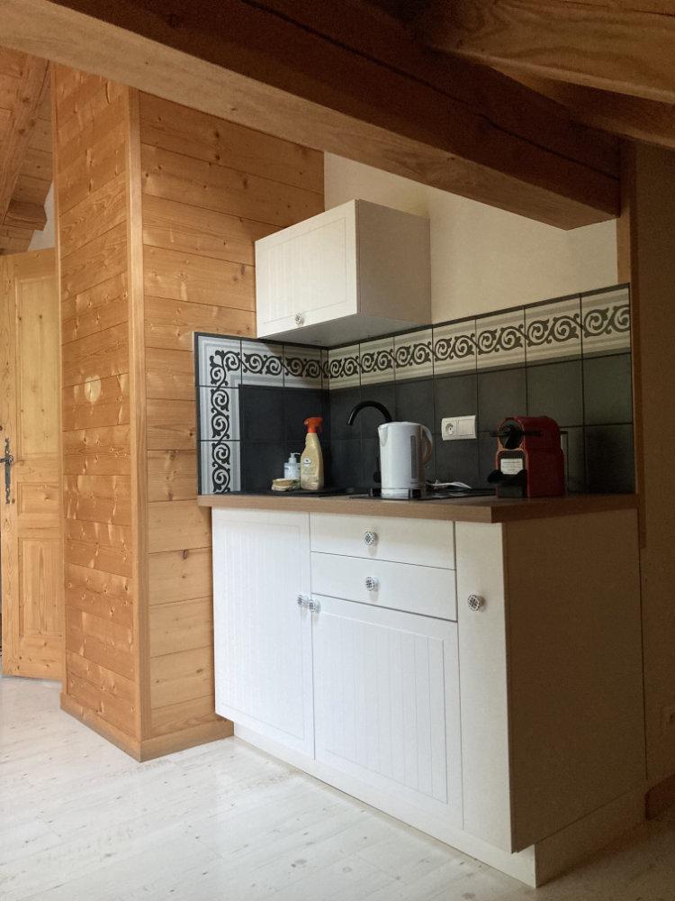 La cuisine des notre appartement à louer à Samoëns